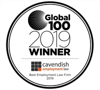 Global 100 2019 award logo Cavendish Employment Law Limited 200x180
